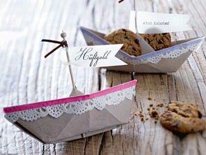 Faltanleitung: Papierboote für Cookies (Download LECKER Bakery)