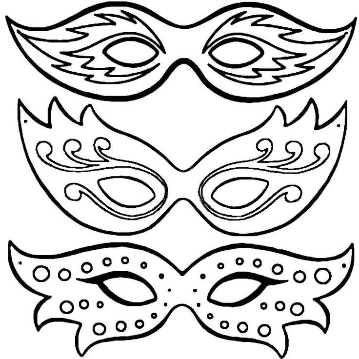 Coloriage Masques De Carnaval A Imprimer Gratuit Színező