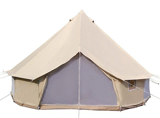 Dream House Diameter 5m Big 4 Season Canvas Cabin Waterproofing Camping Tents With Stove Jack Tent Glamping Canvas Tent Camping Family Tent Camping