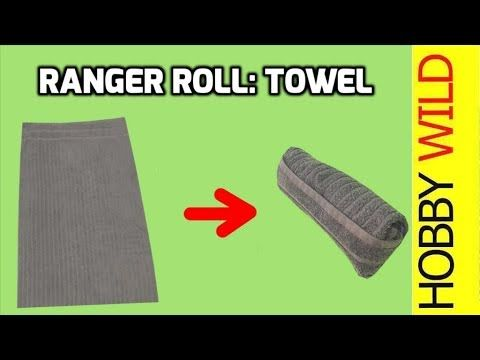 How To Ranger Roll A Towel - YouTube