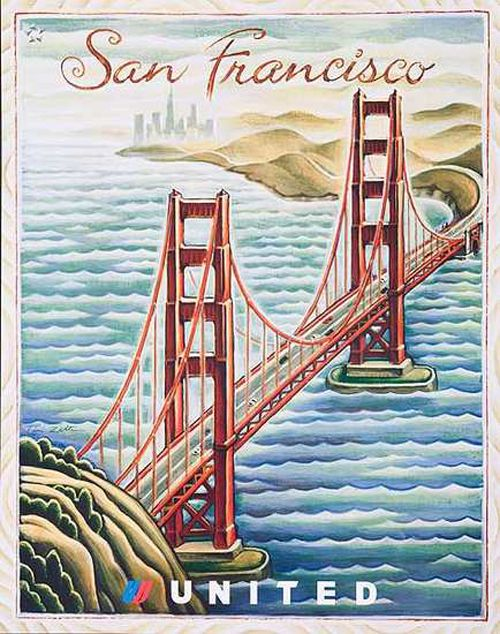 United Airlines   Community Post: 24 Beautiful Vintage San Francisco Travel Posters