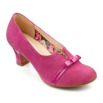 1950s style shoes in pink – Antoinette Heels – Choose Hotter's Pyramid Techn…