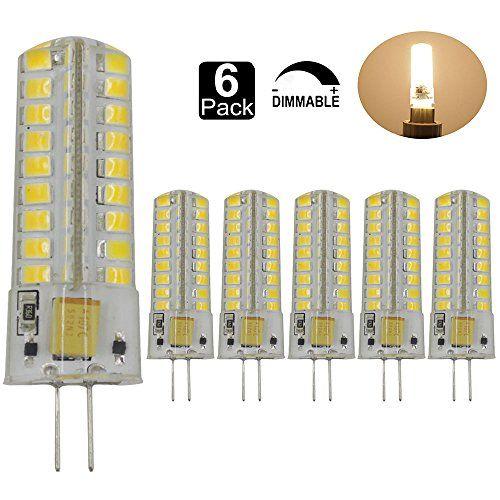 Dayker 5W G4 LED Bi Pin Bulb Dimmable Jc Type G4 Base Lightbulb AC/DC 12V Warm White for Closet Lights, Under Cabinet, Landscape Lighting,…
