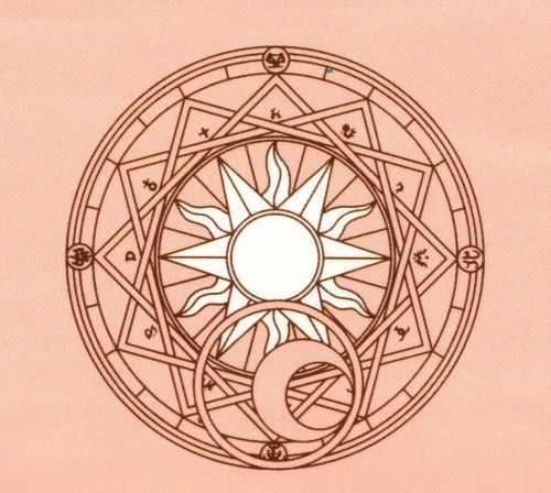 Clow Reed's Magic Circle from CLAMP's Cardcaptor Sakura