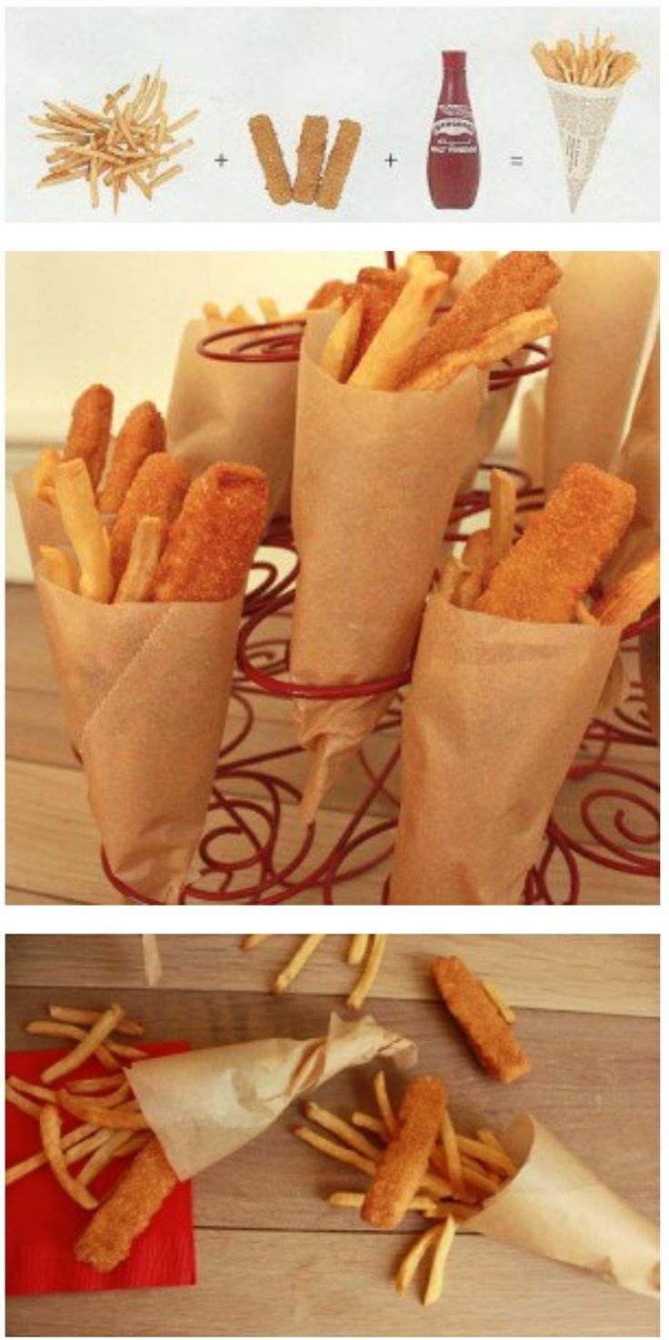 Serving fish sticks chicken tenders and fries in rolled for Serving size of fish