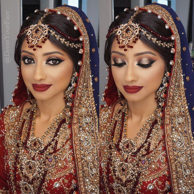 """""""The final look from the step-by-step video in previous post ❤️ Hair, Makeup, Dressing by me @dressyourface #dressyourface • For 2016 brides: unfortunately…"""""""