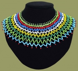 African Beadwork Zulu Wedding Necklace.1