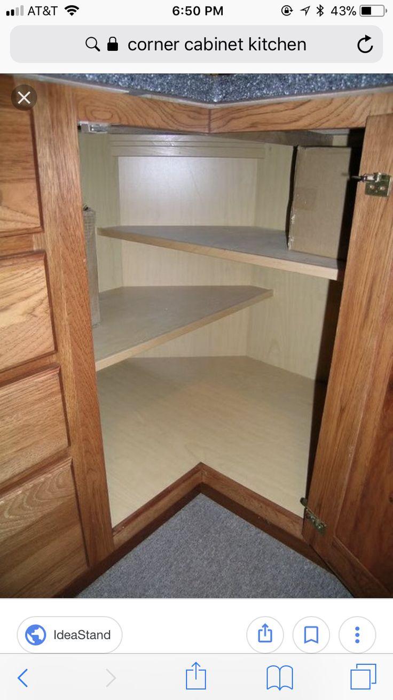 Corner cabinet interior shelf arrangement so 2 sewing machines fit.