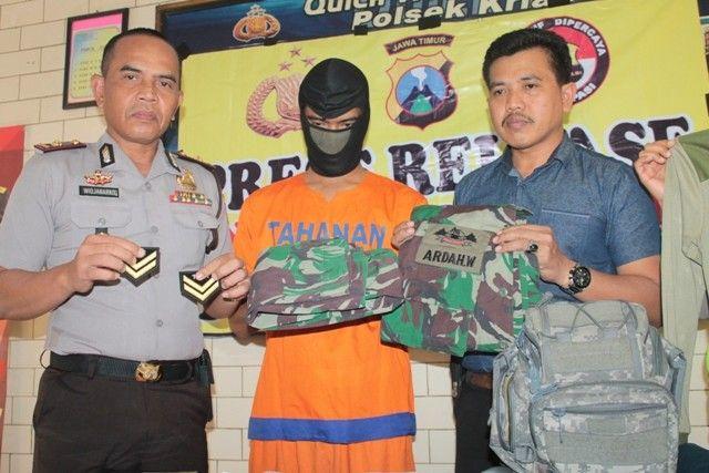 Seorang Pria Nekat Tipu Pacar Dengan Ngaku Tentara Warga Warga Jedongcangkring Diamankan Unit Reskrim Polsek Krian