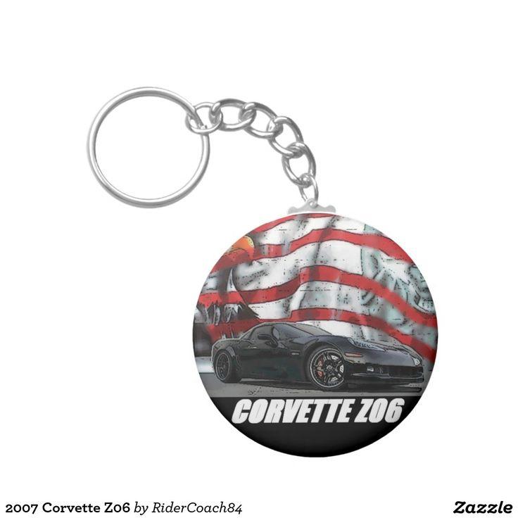 2007 Corvette Z06 Basic Round Button Keychain