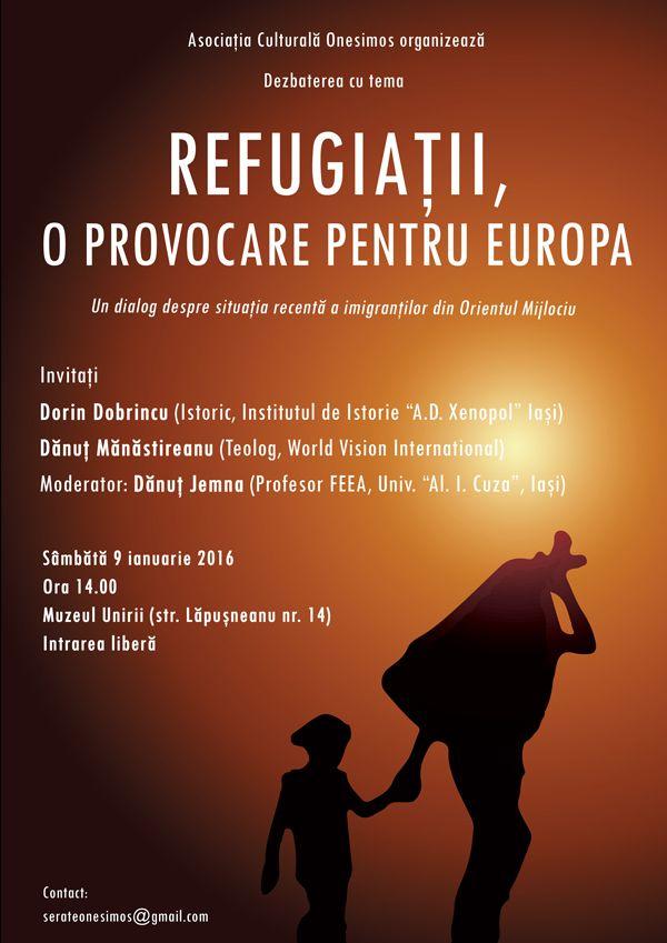 """Dezbaterea """"Refugiații, o provocare pentru Europa""""   IasiFun - site-ul tau de timp liber!"""