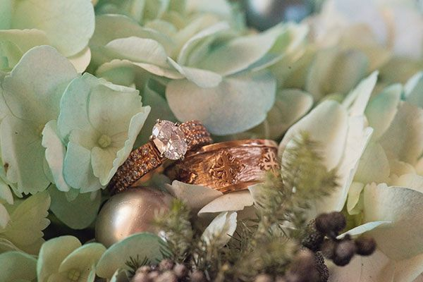 engagement ring wedding rings combo