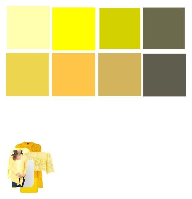 """yellow"" by elenton on Polyvore featuring мода, BOSS Green, Calvin Klein, ADAM, Boohoo и Caralase"
