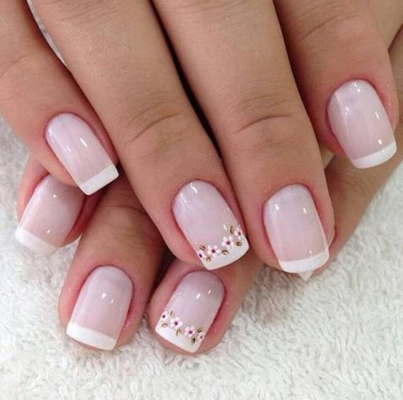 beautiful french manicure toes