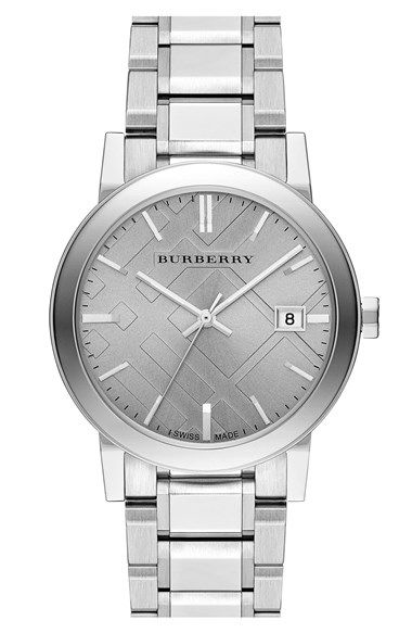 Burberry Check Stamped Bracelet Watch, 38mm