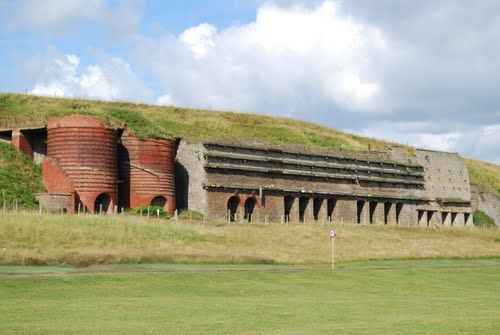 Along the coast of South Shields you will see the remains of Marsden Lime kilns, perhaps the most visible reminder of South Tyneside's Industrial past.    These lime kilns were built in the 1870s showing Limestone has been quarried at Marsden for many years. The stone was used in some notable local buildings, including Whitburn windmill.