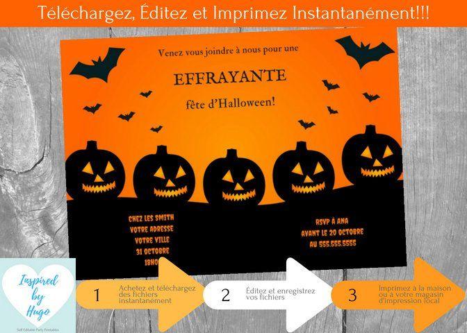 etsy invitation fete fete halloween