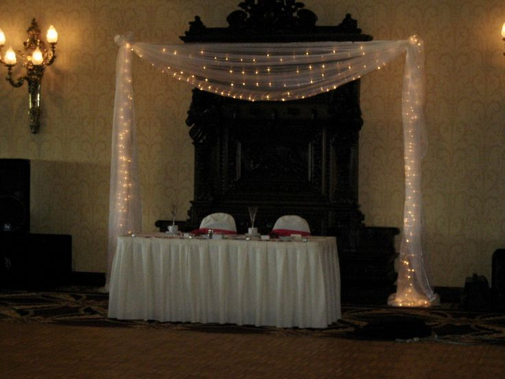 An expressive backdrop over the sweetheart table is a great way to add  a touch of magic.