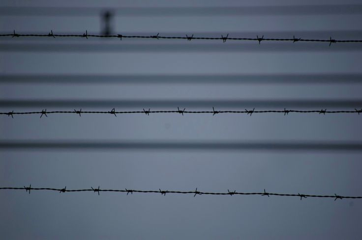 Barbed wire around the power lines to stop any would be idiots from frying themselves