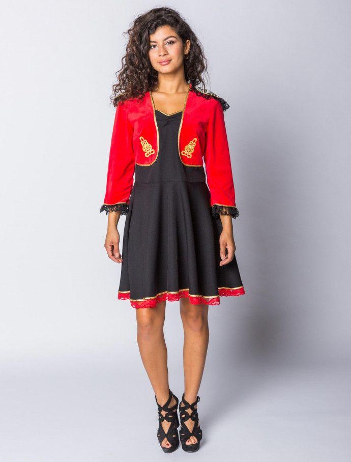 Kleid Spanierin kurz Damen | Deiters  |  Frauen  | Kostüm | Karneval | Fasching | Outfit | Mottoparty | Halloween