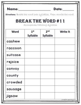 5 letter words with one vowel a syllable types vowel teams 2 syllable words word work 18646