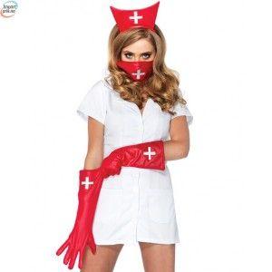 Røff Sykepleier Kostyme
