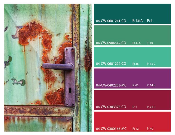 rust color scheme, rust and green color inspiration, rust mood board