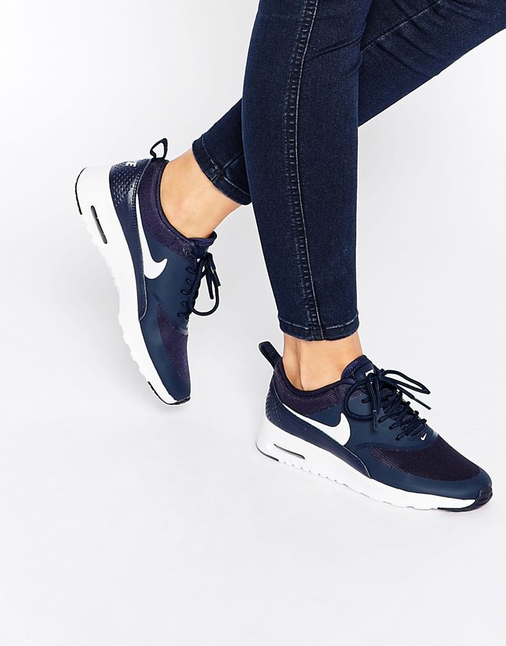 Nike Air Max Thea Navy Trainers saved by #ShoppingIS