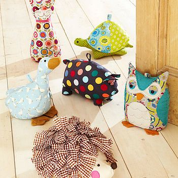 animal door stops filled with sand and polyester