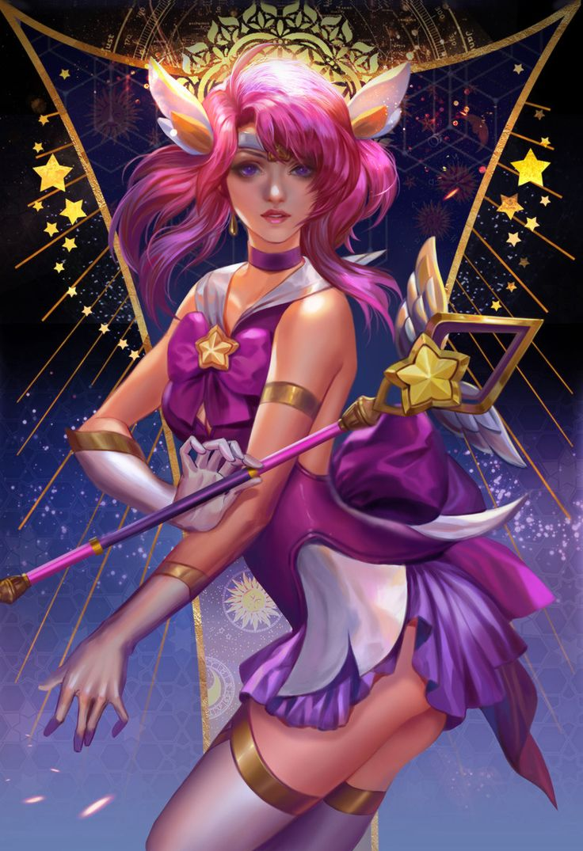League Overpower Star guardian lux, Fan yang, Fan art