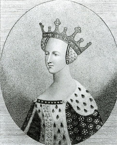 Catherine de Valois. The mother of the Tudor dynasty.  Wife of Henry V and Owen Tudor. With her second husband Owen Tudor she bore a son Edmund who married Margaret Beaufort who would then produce a new king for England King Henry VII.  The first of the Tudors