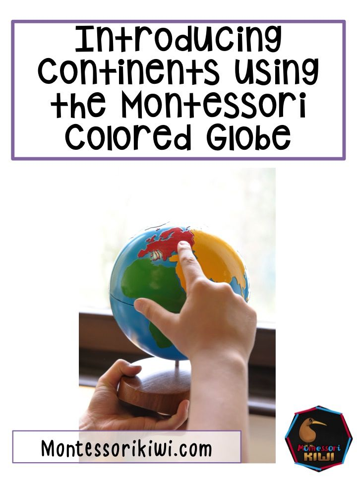Montessori globes and continents post with links for resources for geography
