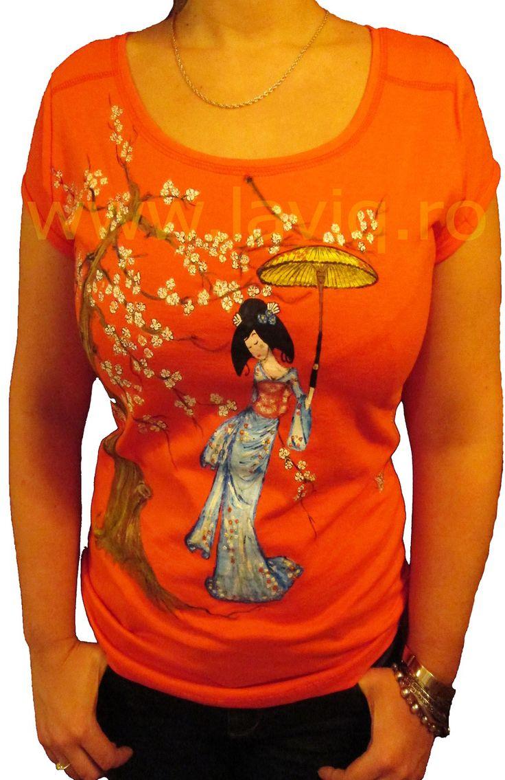 Tricou pictat Japanese 3    www.laviq.ro    www.facebook.com/laviq