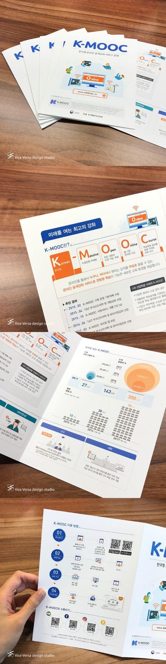 한국형 온라인 공개강좌 K-MOOC 리플릿 디자인
