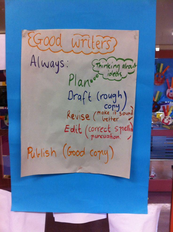 Good writers always...