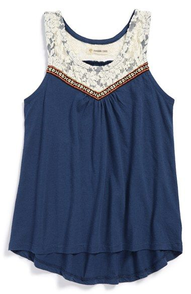 in the cream color Tucker + Tate Lace Tank Top (Big Girls) available at #Nordstrom