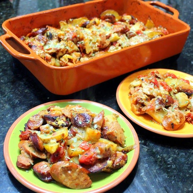 Inspired By eRecipeCards: Cheesy Sausage and Fennel FREEZABLE Casserole - 52 Church PotLuck Main Dishes