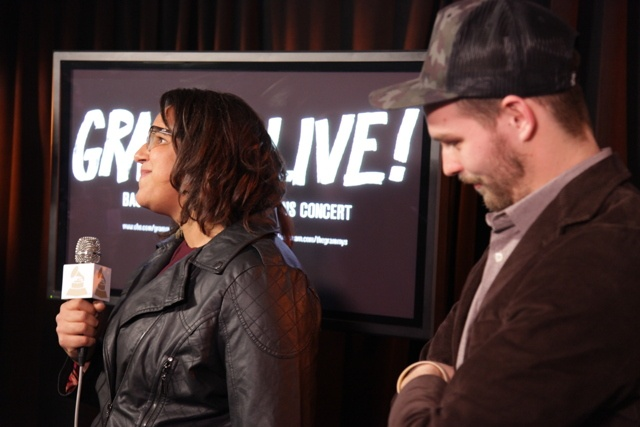 Two-time GRAMMY nominees Alabama Shakes backstage at the GRAMMY Nominations Concert Live!!