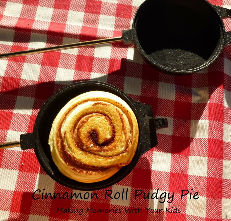 Cinnamon Roll Pudgy Pie | LINK: Pudgy Pie (aka Mountain Pie) Recipes/Ideas - S'more, Spaghetti, Bacon & Egg, etc.