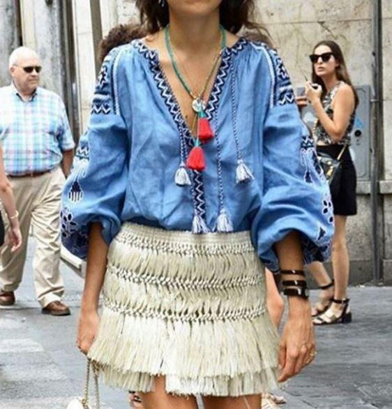 Bordado blusa túnica camisa estilo Vita Kin boho chic por YASENSVIT