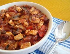 This vegetarian tofu chili recipe packs twice the protein punch with both beans and tofu. Chili is always a great idea to bring to a potluck, since it's easy to whip up a large batch, and this tofu chili recipe will be a hit with vegetarians and vegans alike.