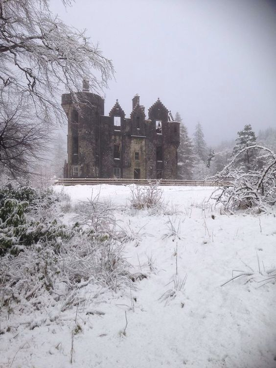 "and-the-distance: "" Dunans Castle, ancestral seat of Clan Fletcher, Argyll, Scotland """