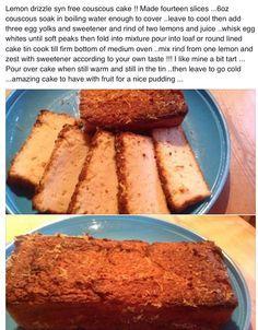 Syn Free Lemon Drizzle Cake ;)