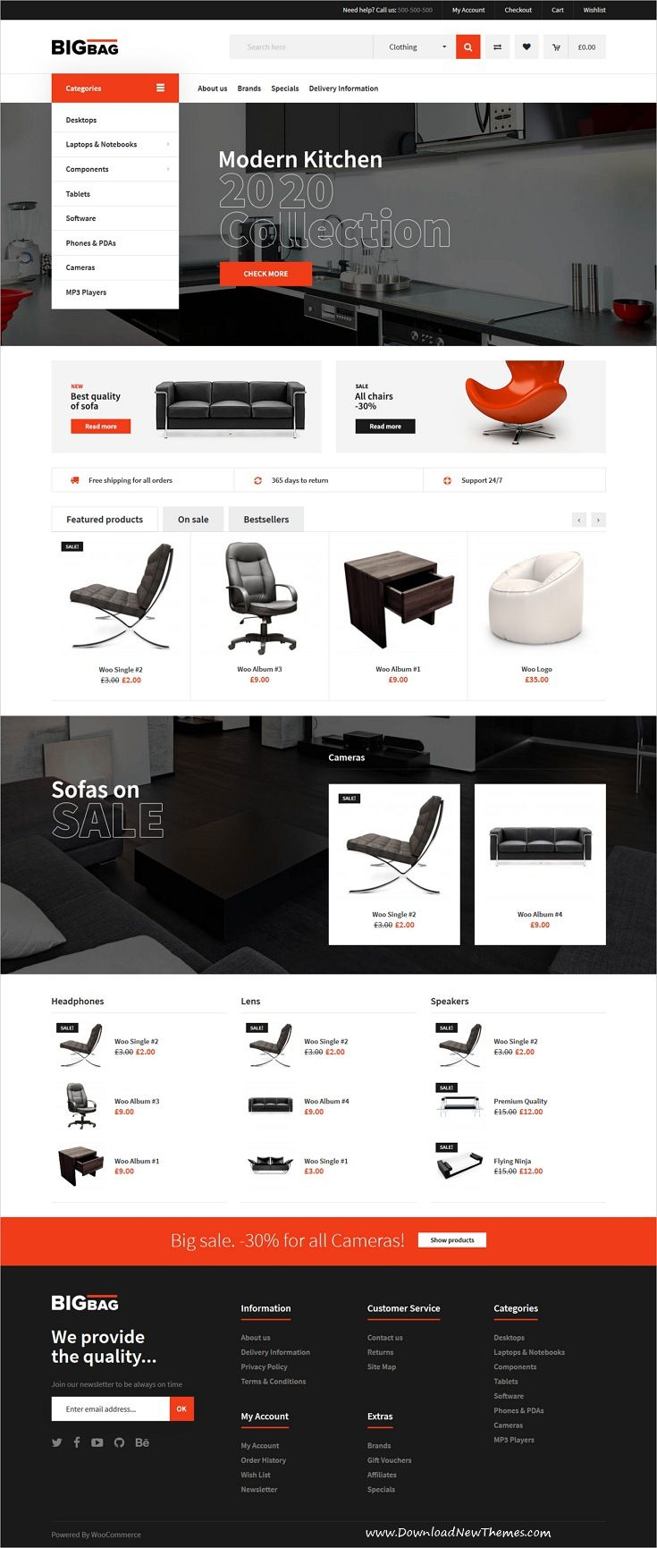 BigBag is clean and modern design 5in1 responsive WooCommerce #WordPress theme for stunning #furniture shop #eCommerce website to live preview & download click on Visit