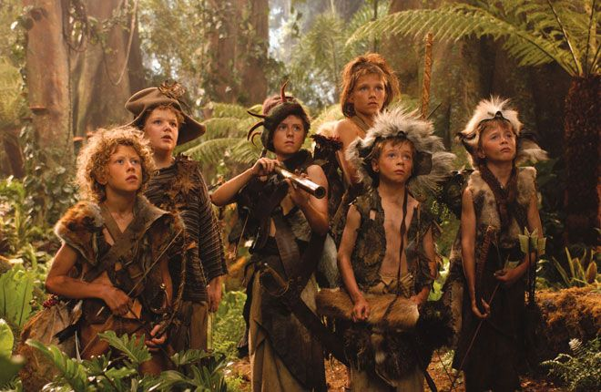 The Lost Boys - Curly, Tootles, Slightly, Nibs, and the twins (Peter Pan 2003)