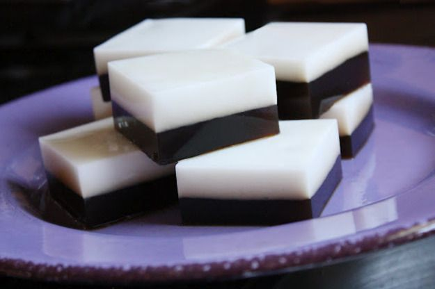 recette gelées à l'agar agar saveur café et coco. (recipe agar agar jelly coco and coffee)