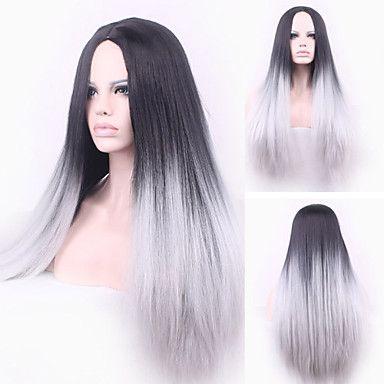 europa svart og grå varmebestandig hår syntetiske parykker 4732294 2016 – kr.153