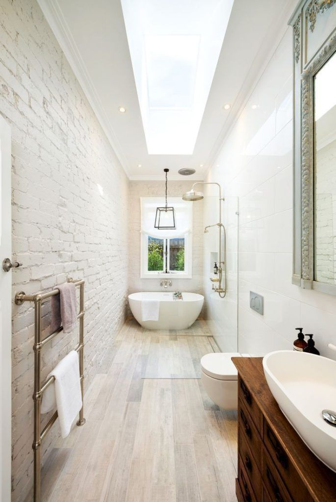 How To Draw The Long Narrow Bathroom Layout Design