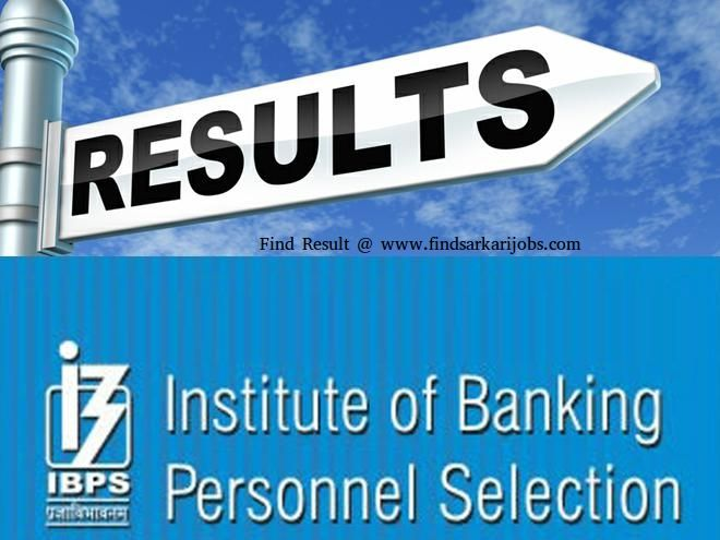 Find IBPS exam result 2017 information at findsarkarijobs. It is a one the best website where people can get all information about about government exams results.
