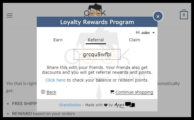 Get FREE products! GeekClick.com    You can get free products by simply joining the free REWARDS program and sharing a special COUPON CODE with all your friends. When they order you get points towards products, and of course they are shipped to you FREE!  Follow this tutorial to get signed up….https://geekclick.com/2017/08/30/free-rewards-program/